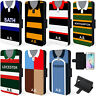 Retro Rugby Shirt Samsung Case Phone Wallet Cover Personalised Gift ALL TEAMS