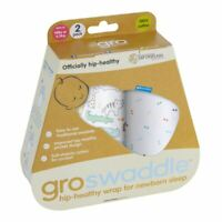 Animal Fair Hip-Healthy Groswaddle Baby Swaddle by The Gro Company - 0-3m 2-Pack