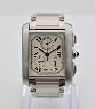 Cartier Tank Francaise Chronoflex White Dial Quartz Lady's Watch ref 2303