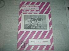 Hearts v Rangers March 1956 League