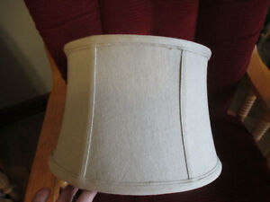 "Cloth Aidan Gray Drum Lamp Shade 9"" tall x 11"" across top x 13"" across bottom"