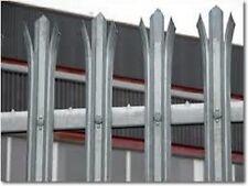 2.1m high Galvanised Industrial Security Steel Palisade Fencing