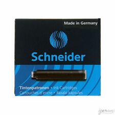 Pk/6 Schneider Fountain Pen Ink Cartridges, Black