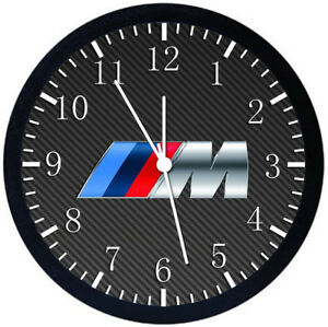 BMW M Black Frame Wall Clock Nice For Decor or Gifts W268