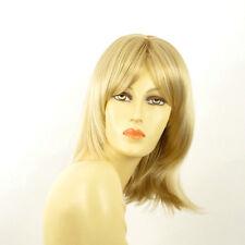 Perruque femme mi-longue blond doré méché blond très clair  EDITH 24BT613