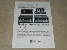 McIntosh Ad, 1966, 275 Tube Amplifier, MR 71 Tuner, C24 Preamp, 1 page, RARE!