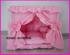Charm Princess Pet Dog Cat Handmade Bed House Pink Size Large