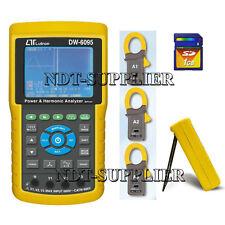 DW-6095 3 Phase Power Analyzer SD Card Real Time Data Recorder w/Harmonic Test