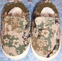Baby Boys Green Camouflage Plimsole Prams Shoes