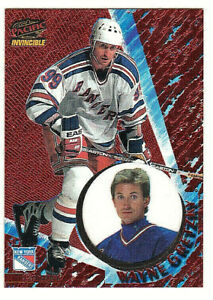 1997-98 Pacific Invincible Copper Wayne Gretzky #86 rare New York Rangers