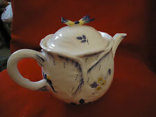 SPODE IMPERIAL  GARDEN TEA OR COFFEE POT WITH BUTTERFLY ON THE TOP LID