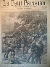 GUERRE CUBA ETATS-UNIS INSURGéS SUICIDE DE CHEVAL JOURNAL LE PETIT PARISIEN 1898