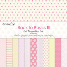 "Dovecraft 6 x 6"" Scrapbook Paper Back to Basics III PINK FULL PACK_UK/SPAIN ONLY"