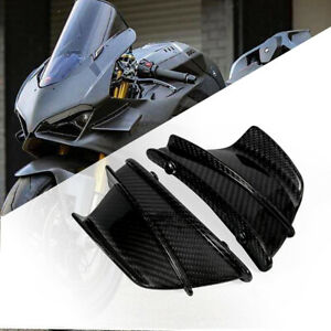 For Ducati Panigale V4 Motorcycle WINGLETS Air Deflector 100% Carbon Fiber Gloss