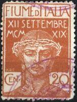 """✔️ FIUME 1920 """"FIUME D'ITALIA"""" 20C NON EMESSO UNLISTED RARE Sassone ?? CV1.000€+"""