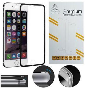Black Metal Edge iPhone 6S Plus Full Screen Protector Gorilla Tempered Glass 9H