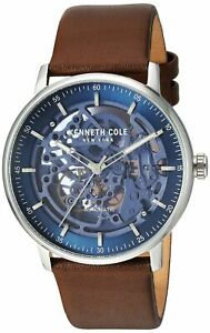 Kenneth Cole New York Men's Automatic Stainless Steel & Leather Watch KC15104003