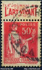 FRANCE BANDELETTE PUB L'ART VIVANT SUR N° 283 AVEC OBLITÉRATION