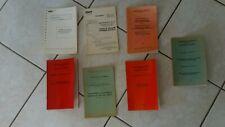 1950/1980-lot 7 MANUELS cheminot-draisine-autorails-voie-CFTA-conduite-SNCF!