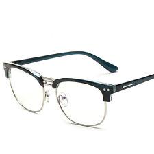 Unisex Klarsichtbrille Hälfte Umrandeten ohne Brille Stärke mit Glas Zweifarbig