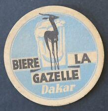 Sous-bock bière épais BIERE LA GAZELLE DAKAR bleu Sénégal Afrique beermat 1