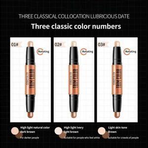 3d Highlighter Stick Contour Pencil Foundation Concealer Double Head Face Makeup