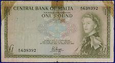 MALTA 1 POUND 1967 PK29 FINE RARE #B1006