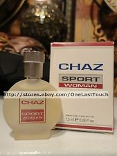 CHAZ* SPORT Eau de Toilette for WOMEN .25 oz Mini MINIATURE COLLECTIBLE Bottle