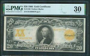 $20 Gold Certificate series 1906, PMG Very Fine 30