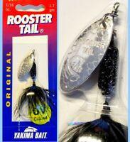 Worden's Rooster Tail  UV Black Glitter Tinsel Leech 1/16oz Spinner Fishing Lure