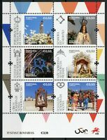 Portugal Religion Stamps 2020 MNH Festivals & Pilgrimages Places of Faith 6v M/S