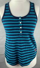 Superdry ladies size xsmall blue striped vest top