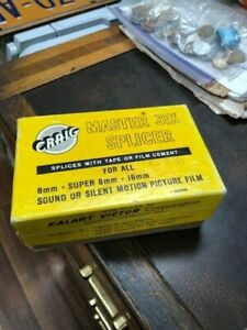 Craig Kalart Master Six Film Splicer for 8mm and 16mm  w/ Original Box & Instruc