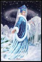 Snow Princess - DIY Chart Counted Cross Stitch Patterns Needlework