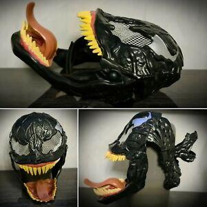 RARE Marvel Venom Face MaskHalloween Cosplay Costume Hasbro 2007 Spider-Man Kids
