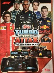 TOPPS Turbo Attax 2021 F1 FORMULA 1  - BASE CARDS 1-203 BUY 4 GET 10 FREE