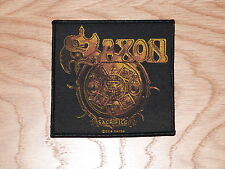 SAXON - SACRIFICE (NEW) SEW ON W-PATCH OFFICIAL BAND MERCHANDISE