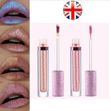 UK Iridescent Glitter Matte Liquid Lipstick Waterproof Beauty Makeup Lip Gloss