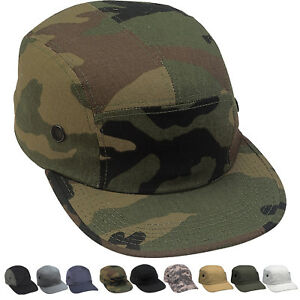 5 Panel Urban Street Cap Engineer Hat Adjustable Army Military Tactical Camo