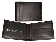 BOSCA Essentials Small Bifold Card ID Holder Soft Leather Wallet Dark Brown NWT