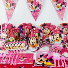 78pcs Minnie Mouse Baby Birthday Party Decorations Kids Evnent Party Supplies