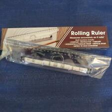 Rolling Ruler Used by Professionals Marked Inches 1st line cm 2nd line + angles