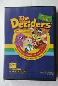 The Deciders: Take On Concepts - Missions I. II. III (Ages 4-10 on 3 CD-ROMs)