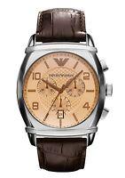 Emporio Armani Mens Watch Brown Leather Strap AR0348
