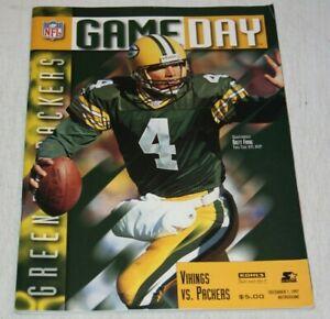 Minnesota Vikings vs Green Bay Packers Program Magazine December 1 1997