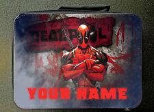 Personalizado Personalizado No Oficial Deadpool aislado almuerzo Bolso 24CM X 18CM Negro