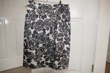 BODEN 100% SILK LINED SKIRT GREY AND CREAM SIZE 10L