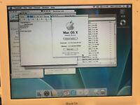 """Apple iBook G4 12"""" Macintosh Mac A1054 OS 10.4.11, 1.25 GB RAM, 55GB HDD, wifi"""