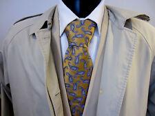 Ede & Ravenscroft Royal Court Tailors Woven Scrolls Pattern Silk Tie