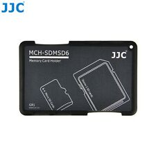 JJC Memory Card Case for 4x microSD + 2x SD Cards - Gray Edition - MCH-SDMSD6